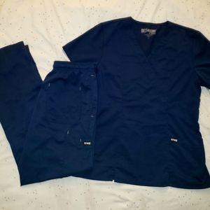 Grey's Anatomy Scrub Set in Navy Blue Large & Med